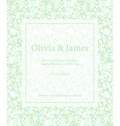 Green invitation vector