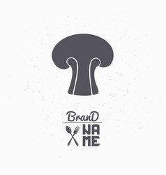 Hand drawn silhouette of mushroom vector