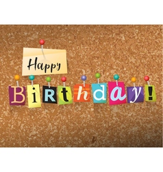 Happy Birthday Concept vector image vector image