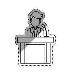 Lawyer speaking in court vector