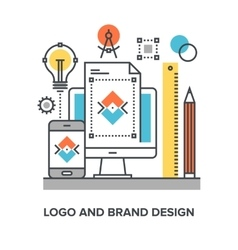 Logo and brand design vector