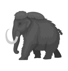 Mammoth icon in monochrome style isolated on white vector