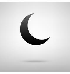Moon black icon vector