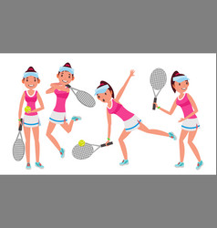 professional tennis player summer sport vector image