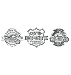 Set black vintage badges emblems with a vector