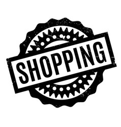 shopping rubber stamp vector image