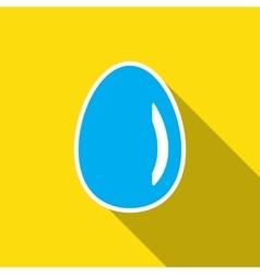 Simple egg icon vector