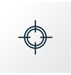 Sniper outline symbol premium quality isolated vector