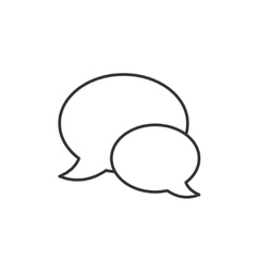Speech bubbles thin line icon vector image