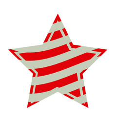 Star with stripes independece day icon vector
