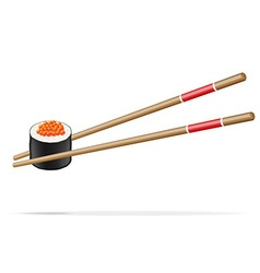 sushi and chopsticks 03 vector image vector image