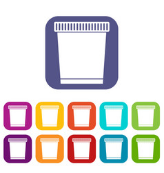 trash can icons set vector image