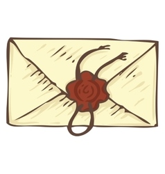 Vintage envelope with wax stamp vector