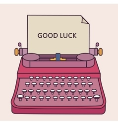 Good luck type writer thin line style vector