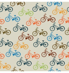 Retro bicycle pattern vector