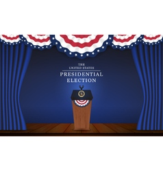 Presidential election banner background vector