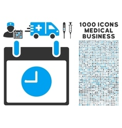 Clock Calendar Day Icon With 1000 Medical Business vector image