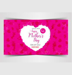 happy mothers day lettering calligraphy on heart vector image