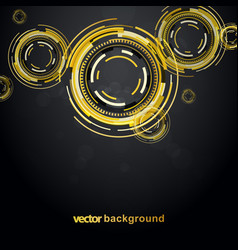Abstract golden background with circles vector