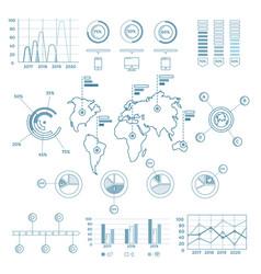 Social media blue infographic elements vector