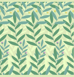 Floral seamless pattern background of green vector
