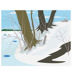 Winter day vector