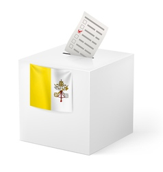 Ballot box with voting paper vatican city vector