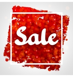 Sale red abstract background design with glitter vector