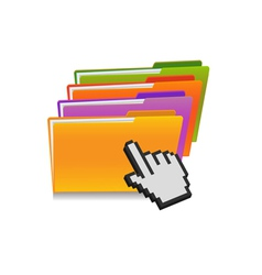 Folder and hand cursor vector