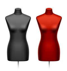 Female tailors dummy mannequin vector