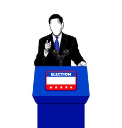 Election campaign speech vector