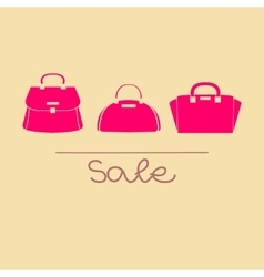 Colorful handbags with sale vector image