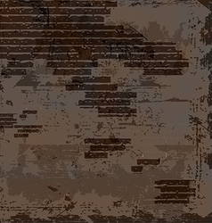 Empty old shabby brick wall vector