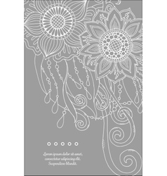 Floral card hand drawn artwork with abstract vector
