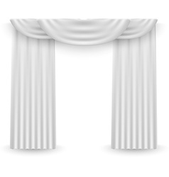 White curtains on a white background vector