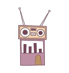 A radio vector image vector image