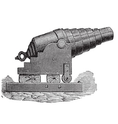 Armstrong cannon old engraving vector