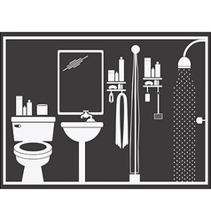Bathroom design vector