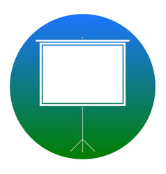 blank projection screen white icon in vector image vector image