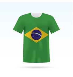 Brasil flag t-shirt vector