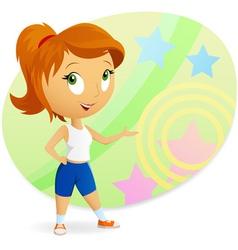 cartoon sports girl vector image vector image