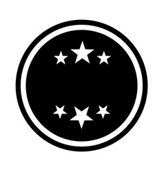 Circle seal stamp with stars vector