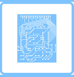 Circuit icon vector