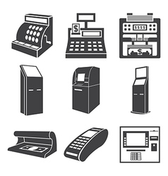 Devices for money vector image vector image