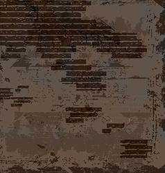 empty old shabby brick wall vector image