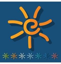 Flat design sun vector