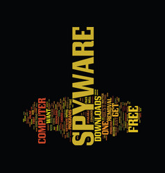 Free spyware downloads text background word cloud vector