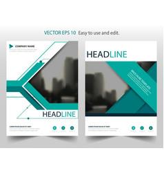 green annual report brochure flyer design vector image vector image