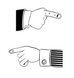 hand in office suit vector image