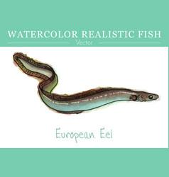 hand painted watercolor edible fish design vector image